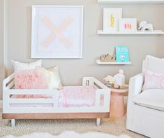 Oilo Girly room makeover featuring one of my paintings + print!! >> My Daughters Room – Oilo