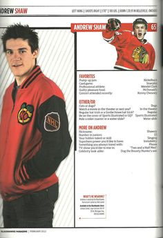 Andrew Shaw...Sucks that he likes dogs because my cat is named Shawzy!