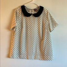 Merona Tops | Polka Dot Blouse | Poshmark Polka Dot Blouse, Polka Dot Top, Black Cream, Super Cute, Product Description, Outfits, Things To Sell, Tops, Fashion