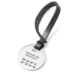Custom engraved luggage tags from Thoughtful Impressions. Engraving can be applied to both sides and in a variety of styling options. Personalized Luggage Tags, Personalized Wedding Gifts, Customized Gifts, Latex Fashion, Steampunk Fashion, Gothic Fashion, Leather Keyring, Engraved Jewelry, Tag Design