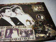 TUTORIAL - gift box for golden wedding anniversary - Presente para bodas de ouro