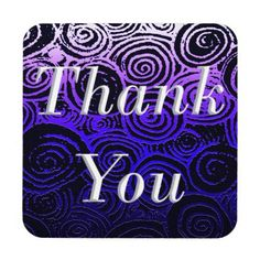 Thank You Swirls Drink Coaster - diy cyo customize create your own personalize