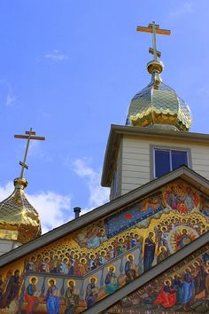 ✮ This photo shows the front details of the Old Believer's Russian Orthodox church
