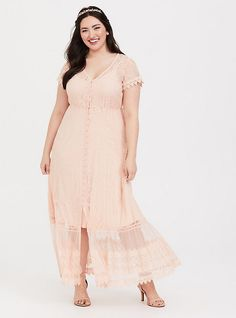 Plus Size Blush Lace Embroidered Maxi Shirt Dress, Navy Lace Midi Dress, Maxi Shirt Dress, Chiffon Maxi Dress, Lace Maxi, Floral Maxi, Pink Dress, White Dress, Bodycon Dress, Blush Dresses