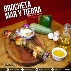 Conoce nuestra #Brocheta #MarYTierra   una pieza, combinando camarones, trozos de pollo y res además de vegetales variados.