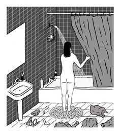 Black and White by Rachel Levit Ruiz #illustration