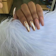 In search for some nail designs and ideas for the nails? Here's our list of 40 must-try coffin acrylic nails for stylish women. Dope Nails, Nails On Fleek, Fun Nails, Gorgeous Nails, Pretty Nails, Nail Art Designs, Nail Design, Nails Polish, Nagel Gel