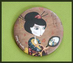 Espejo EL REFLEJO DE UNA SONRISA  http://es.dawanda.com/shop/porquesuenio