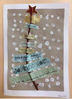 idée de carte de noel fait main 55 vie www.cartefaitmain.eu #carte #diy