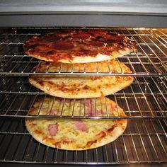 Cooking on oven racks