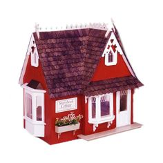 This is the most adorable house I have seen for under $ 40 bucks! Greenleaf Dollhouses Storybook Cottage Dollhouse Kit