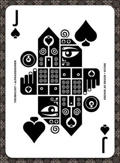 Mythos is a project reinventing the modern playing card with more than 100 designs, organized in an Anglo-French (Poker) and Latin (Spanish baraja) decks. Cool Playing Cards, Playing Card Design, Jack Of Spades, Play Your Cards Right, Deck Of Cards, Card Deck, Grafik Design, Graphic Design Typography, Game Design