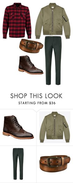 """look hiver pour homme moderne"" by nabucho on Polyvore featuring Yves Saint Laurent, Burberry, Uniqlo, Dickies, modern, mens, men, men's wear, mens wear and male"
