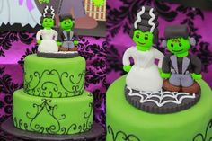 See more about wedding cakes, frankenstein and monsters. Halloween Wedding Cakes, Halloween Cakes, Halloween Party, Wedding Theme Inspiration, Frankenstein, Cake Art, Let Them Eat Cake, Holi, Monsters