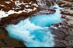 Bruarfoss waterfalls, Iceland.