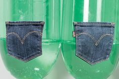 Levi's Gives the Green Light to Eco-Friendly Jeans (this makes me want to buy levi's jeans exclusively. Plastic Design, Clothing Company, Apparel Company, Sustainable Fashion, Sustainable Style, Go Green, Sustainability, At Least, Product Launch