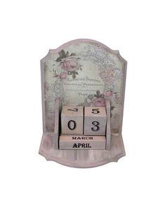 Desk Calendar, Perpetual Calendar, Wood Calendar, Roses Perpetual Calendar, Tabletop Calendar, Eternal Calendar, Ofiice Desk Decoration
