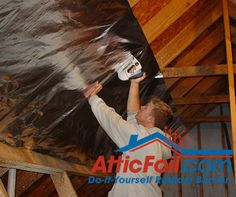 The goal of adding a radiant barrier in your attic is to cover as much of the underside of the roof as possible. You want to add the foil on all surfaces that make up the roof, but you also need to keep vents open and clear of the foil.