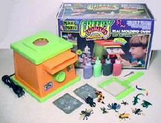 My brother had A creepy crawlers machine I still remember the smell!