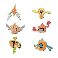 Official Rotom Forms Pokémon Pins. This adaptable Pokémon has six forms and makes a great start or addition to any Pokémon Pin collection.