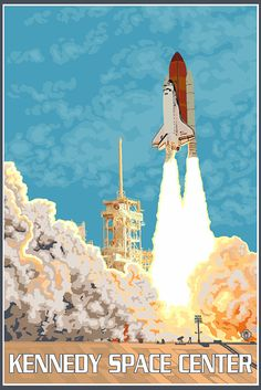 Kennedy Space Center (Art Prints available in multiple sizes) by NightingaleArtwork on Etsy https://www.etsy.com/listing/241469118/kennedy-space-center-art-prints