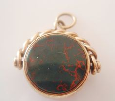 9ct Gold Red Carnelian and Bloodstone by TrueVintageCharms on Etsy