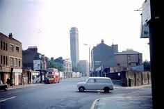 Greenwich High Road 1968 - the tall building was the Greenwich Town Hall