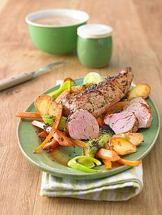 Kräuter - Lendchen im Bratschlauch mit Ofenkartoffeln und viele andere Rezepte zum Schweinelendchen