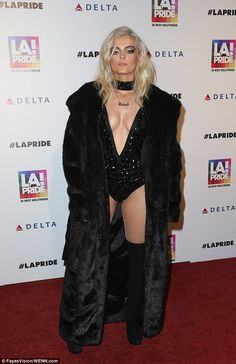 Risque: Bebe Rexha, 26, certainly made a statement when she arrived at  the LA Pride festival in West Hollywood, on Friday