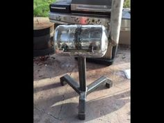 watch me as I make a bbq grill out of two 5 gallon propane tanks and some scrap steel Gas Bottle Bbq, Bbq Grill, Grilling, Propane Tanks, Mig Welding, Steel, Outdoor Decor, Youtube, Bar Grill