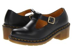 Dr. Martens Sophia T-Bar Black Smooth - Zappos.com Free Shipping BOTH Ways
