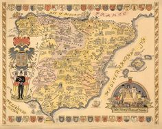 El mapa de la historia de España según el ilustrador Julio de Diego. | 24 mapas locos que muestran España como nunca la habías visto