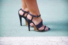 Bottega Veneta denim sandals