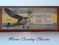 "Vintage 1946 EAGLE MODEL AIRCRAFT SPEARHEAD SR. BALSA AIRPLANE 54"" Wing Span G-8 #EagleModelAircraft"