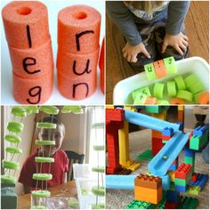 There are so many great learning activities with pool noodles out there and here is all you need to help your students learn all summer long. Toddler Learning, Student Learning, Toddler Activities, Learning Activities, Pool Noodle Crafts, Kid Pool, Pool Noodles, Easy Science, Educational Websites