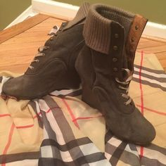 Selling this Army Green Lace Boots in my Poshmark closet! My username is: johnson4348. #shopmycloset #poshmark #fashion #shopping #style #forsale #Shoes