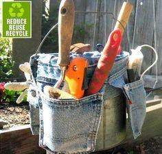 Make a jean pocket garden tool holder!