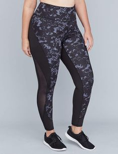 6d903d9deaa5c Lane Bryant Wicking Active 7/8 Legging - Curved Mesh Splicing Plus Size  Activewear,