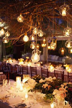 Outdoor Wedding Lighting. I would really want to have lot of lights for my wedding.The atmosphere is so great and peacefull.