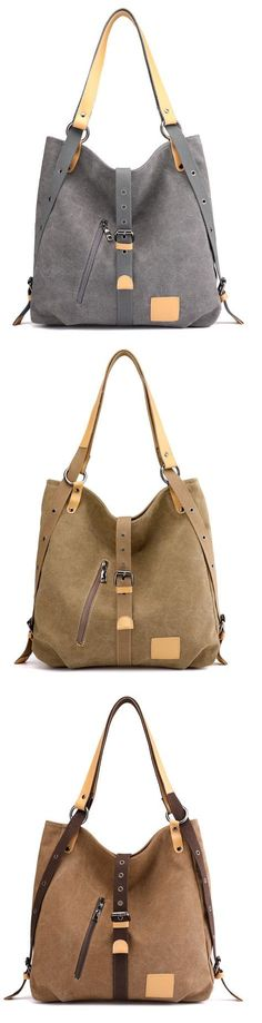 e95da1834cd2  28.66 USD Sale!Shop Now! Canvas multifunctional Leisure Shoulder bag  Backpack Messenger Bag.
