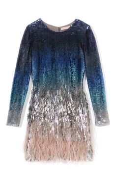 Shop Matthew Williamson Ombre Sequin Mini Dress at Moda Operandi