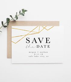 Modern Save The Date Simple Save The Date