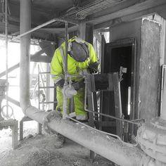 Fixing new rack for the elevator#industrial #mechanic #powertools #welding #repair #asphaltplantfix #asphalt #asfalt #engineering #norway #winter #asphaltplanttechnician #technician #build #yit #followus