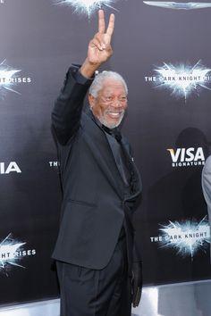 'Dark Knight Rises' Premiere In New York City- Morgan Freeman