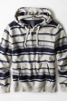 AEO Baja Hoodie, Shipmate Blue | American Eagle Outfitters .... In love with this.. Bonfire wear