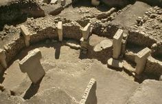 """Gobekli Tepe is Turkish for """"Potbellied Hill"""" and is located in Turkey. The site is believed to be ritualistic and dates to the 10th-8th millennium BCE of the Pre-Pottery Neolithic period. Incredibly well-built, the pillars are inscribed with picture carvings."""