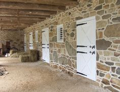Old world paddock doors and stone facade - lovely barn.