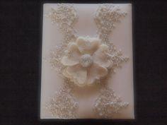 Memory Album Wedding Ivory Lace by ArtisanFeltStudio on Etsy