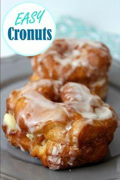 Donut Recipes, Pastry Recipes, Baking Recipes, Fun Recipes, Bread Recipes, Cookie Recipes, Dinner Recipes, Pillsbury Crescent Roll Recipes, Crescent Rolls