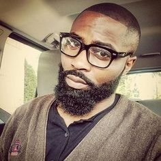 60 Beard Styles For Black Men - Masculine Facial Hair Ideas I Love Beards, Black Men Beards, Handsome Black Men, Black Men Haircuts, Black Men Hairstyles, Gorgeous Hairstyles, Men's Hairstyles, Hairstyles Haircuts, Best Beard Styles